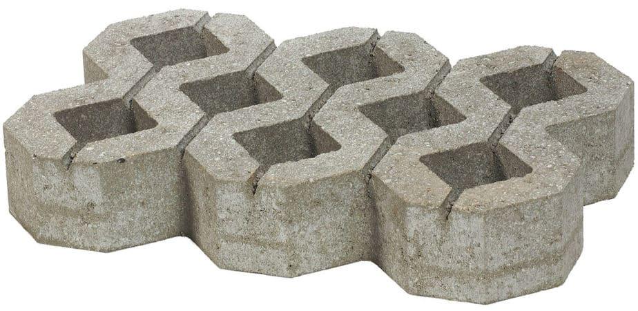 Vlakke grasdallen in beton